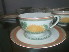 "Limoges tea cup& saucer 2"" haviland Limoges set of 11 pate celadon chrysantheme"