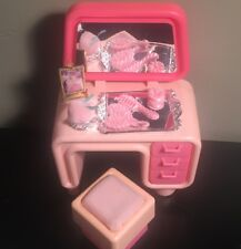 Vintage 1977 Barbie Mattel Pink Dream House Furniture Accessories Vanity Stool