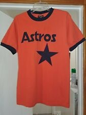 Nolan Ryan Houston Astros Ringer T-Shirt Majestic Cooperstown (M) Jersey Orange