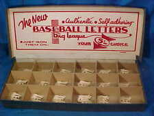 1950s BASEBALL LETTERS Store DISPLAY BOX w ST LOUIS CARDINALS Iron On LOGOS