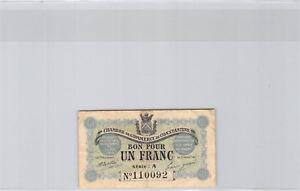 Chambre de Commerce de Constantine 1 Franc 1er Mai 1915 Série A n° 110092