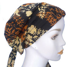 Hand Dyed Batik Cancer Hat Alopecia Hair loss Cotton Scarf Turban