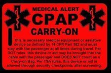 Hi-Viz Red Carry-On CPAP  Bag Tag - TSA - CPAP BiPAP APNEA POC