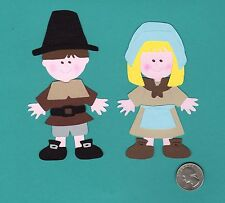 Pilgrim Boy & Girl Die Cut Set, 2 Layered Pieces, Thanksgiving Die Cuts