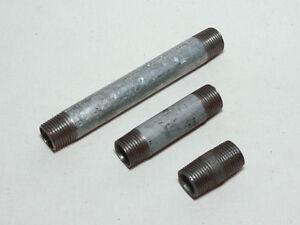 """Rohrdoppelnippel Zink Außengewinde 1/2"""" 40 - 150mm"""