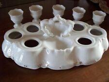 Très joli Service à Oeufs ancien Porcelaine fine