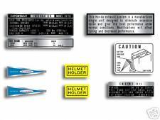 Honda CB750 K0 warning & service label set