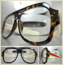 OVERSIZE VINTAGE RETRO Style Clear Lens EYE GLASSES Large Tortoise Fashion Frame