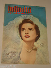 INTIMITA rivista 19 APRILE 1951 n. 269 =COLEEN GRAY cover magazine =