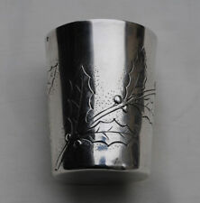 TIMBALE EN ARGENT MASSIF ART NOUVEAU HOUX Sterling Silver Wine Cup Holly