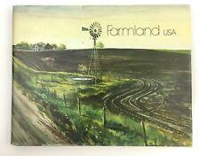 Farmland USA SIGNED Watercolor Agriculture Farm Art Book James Harold Hamil 1975