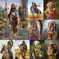 5D DIY Full Drill Diamond Painting Native American Indian Woman Cross Stitch Kit
