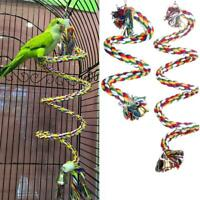 Pet Bird Parrot Rope Parakeet Conure Cage Standing Perch Chew Peck Toys Top