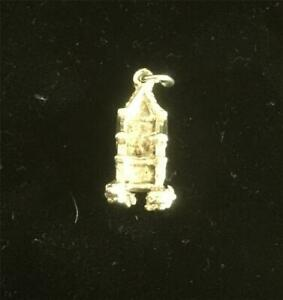 Solid Silver Vintage CHARM  : ROYAL THRONE , CHAIR . Excellent (ref16)