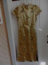 VINTAGE ASIAN STYLE GOLDEN CLASSIC DRESS...XSM