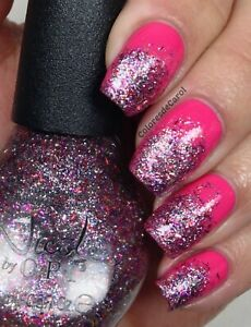 NEW! Nicole By OPI nail polish lacquer FABULOUS IS MY MIDDLE NAME ~ GLITTER