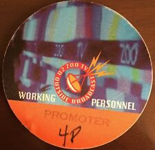 U2 - Zoo TV Tour - satin backstage pass working personnel #48 - blue & orange
