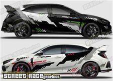 Honda Civic Rally 010 motorsport racing graphics stickers decals vinyl