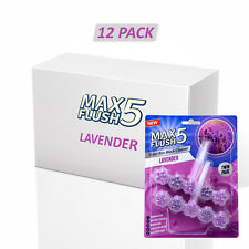 12x Max CHASSE 5 Lavande toilette Rim Block cleaner (Twin Pack)