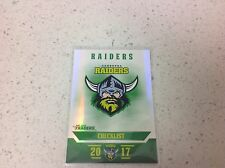 2017 NRL TRADERS PEARL SERIES, CHECKLIST , RAIDERS  # PS011