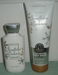Bath & Body Works SNOWFLAKES & CASHMERE Body Wash & Lotion New