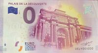 BILLET 0 EURO PALAIS DE LA DECOUVERTE PARIS 2017 NUMERO 5000 DERNIER BILLET
