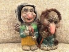 VINTAGE GERMAN BOBBLE HEAD TROLL RARE VERY OLD HEINZE 1967 & HELCO BOBBLEHEAD