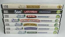 7pc Lot Sims Medieval Expansion Packs Late Night Pets ambitions Supernatural