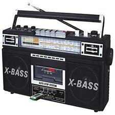 Radio Cassette MP3 Boombox Black