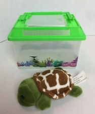 New listing Fun Stuff Plush Turtle With Critter Habitat Carry Case Home New #20A