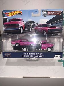 Hot Wheels Team Transport 68 Dodge Dart Horizon Hauler #25 Barbie Pink Coloured