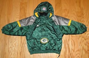 Starter Green Bay Packers 1/2 Zip Pullover Jacket Size S Youth Pro Line Vintage