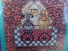 Wizzers Counted Cross Stitch Kit Bunny and Cats, Rabbit and Kittens, NEW