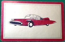 Playing Cards 1 Single Swap Card Old Vintage US FUTURISTIC BUBBLE CAR AUTO MOTOR