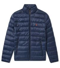 POLO RALPH LAUREN MENS PACKABLE PUFFER DOWN JACKET NAVY BLUE . SIZE - M