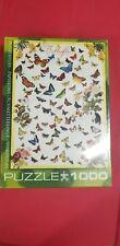 """BUTTERFLIES PAPILLONS MARIPOSAS 1000 PIECE JIGSAW PUZZLE 19 x 26"""" Eurographics"""