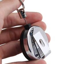 Key Ring Retractable Pull Clip Cord Chain Card Badge Holder Steel Recoil  UK