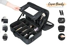 Beauty Travel Makeup Case Large Professional Artist 3 Layers Cosmetic Bag 15.8