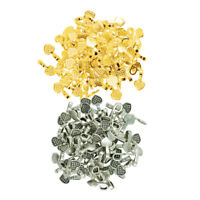 200pcs Silver Gold Heart Glue on Bails Setting For Pendant Jewelry Making