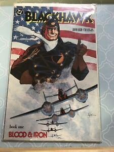 DC Comic Blackhawk Book 1 One Blood & Iron Good Condition Howard Chaykin War