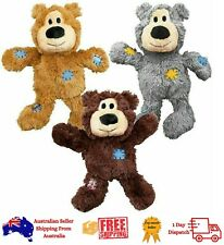 KONG Wild Knots Bear-Plush Pet Puppy Dog Toy - 3 Sizes (Color May Vary)