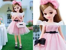 "(New without Box) Takara Licca Bijou Series 9"" Japan Fashion Doll Luminous Pink"