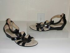 6f18bfbf7178 Easy Spirit Black Low Wedge Sandals Size 6 Shoes Zip Back