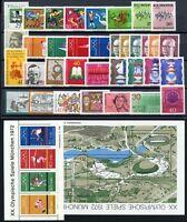 Bund Jahrgang 1972 jede MiNr 1x mit Block postfrisch MNH