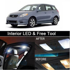 7x White LED Lights Interior Package kit for 2003-2008 Toyota Matrix + Free Tool