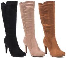 Stivali e stivaletti da donna spilliamo camoscio sintetici tacco alto ( 8-11 cm )