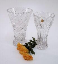 Blumenvasen Bechervase Echt Bleikristall Sterndekor Pokalform Höhe 25 & 23,5 cm