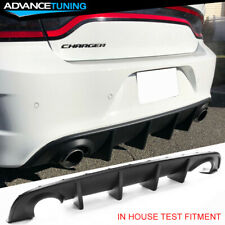 Fits 15-20 Dodge Charger Srt Factory Style Rear Diffuser Bumper Lower Valance Pp