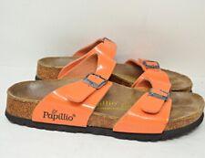 Papillio by Birkenstock Orange 2 Strap Arizona Slide Sandal Womens 39 US 8 N