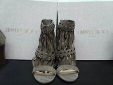 JIMMY CHOO LADIES MALIA/95-SUE/172 MINK SUEDE SANDALS NIB